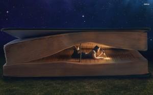 girl-reading-giant-book-digital-art_109981